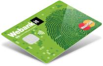 esempio carta di credito cartimpronta webank
