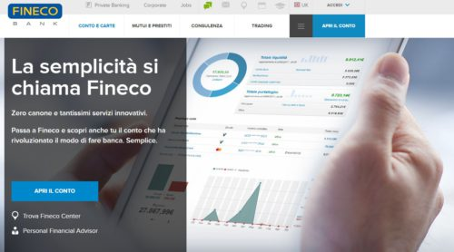 home page sito fineco
