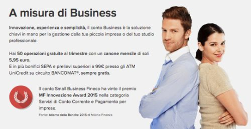 esempio conto business fineco