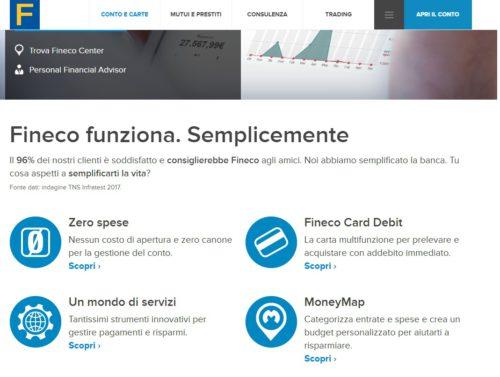 servizi conto corrente online fineco