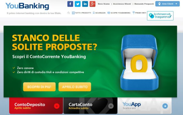 Aprire Youbanking Conto Corrente E Realmente Conveniente