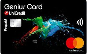 carta prepagata con iban Genius Card di UniCredit