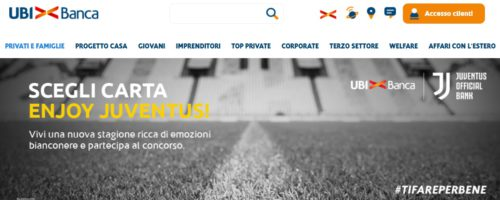 home page sito ufficiale ubi banca carta enjoy