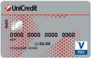 carta di debito vpay unicredit