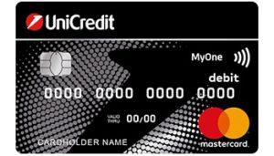 carta bancomat unicredit my one