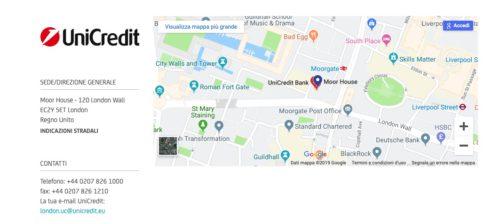 mappa ricerca filiali unicredit