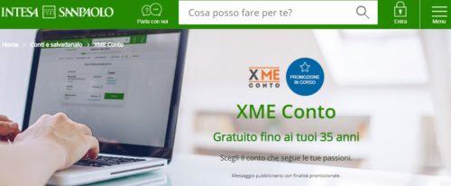 schermata sito intesa sanpaolo offerta conto xme online