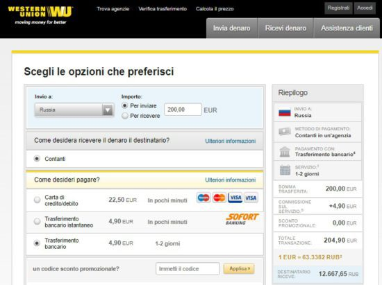 - Contanti Quali In Alternative Anche Russia Soldi Inviare