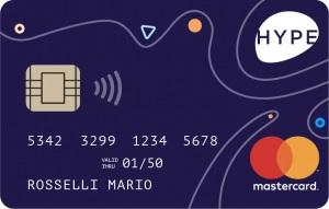 esempio grafica carta hype mastercard