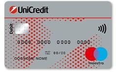 immagine carta di debito maestro unicredit