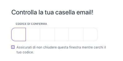 inserimento email registrazione qconto