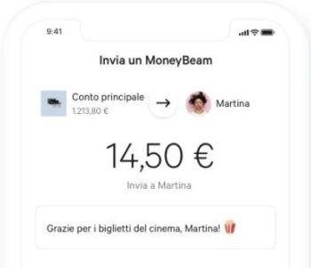 esempio schermata n26 app moneybeam