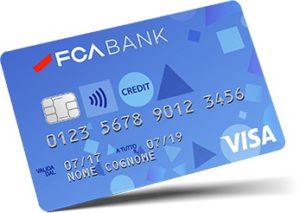 esempio di carta di credito visa fca bank