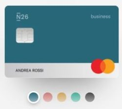 scelta colore carta mastercard n26 business you