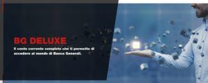schermata conto bg deluxe sito ufficiale banca generali ottobre 2019