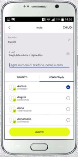 come inviare soldi ai contatti tramite app poste italiane