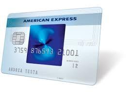immagine carta american express blu