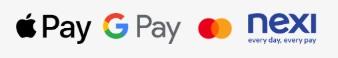 loghi apple pay, google pay e nexi