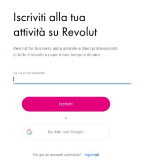 form iscrizione revolut