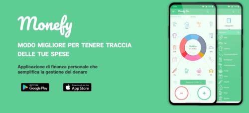 schermata di presentazione app monefy