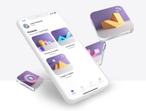 immagine di smartphone con interfaccia fac simile