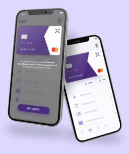 esempio di interfaccia dell'app enelx pay
